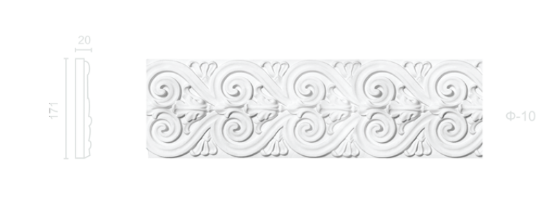 Plaster frieze F-10