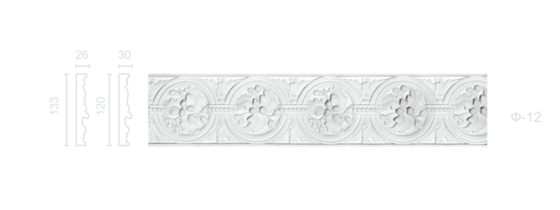 Plaster frieze F-12