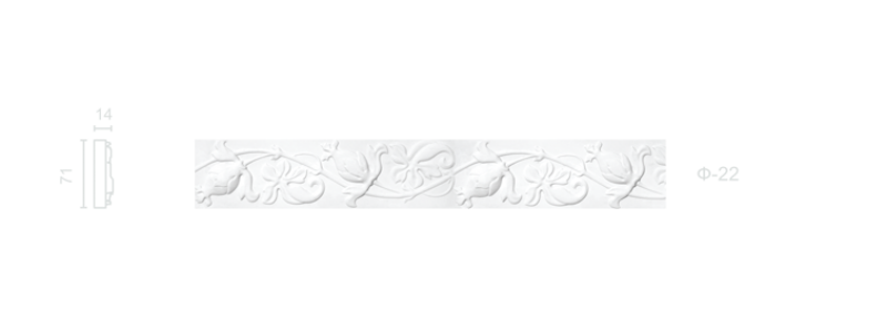 Plaster frieze F-22