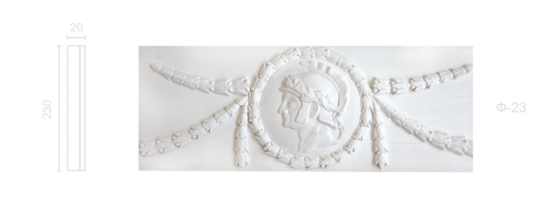 Plaster frieze F-23