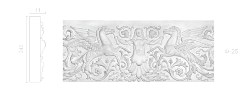 Plaster frieze F-25