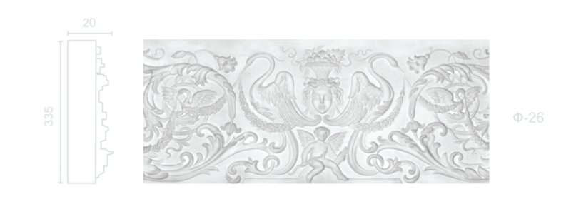 Plaster frieze F-26