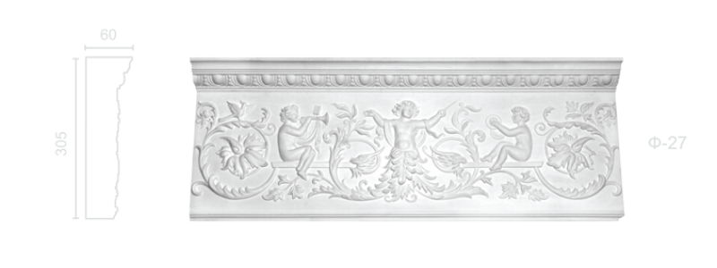 Plaster frieze F-27