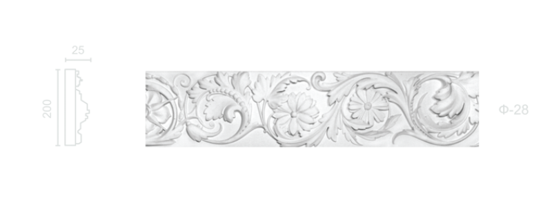 Plaster frieze F-28