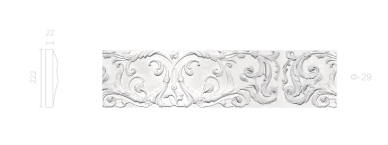 Plaster frieze F-29