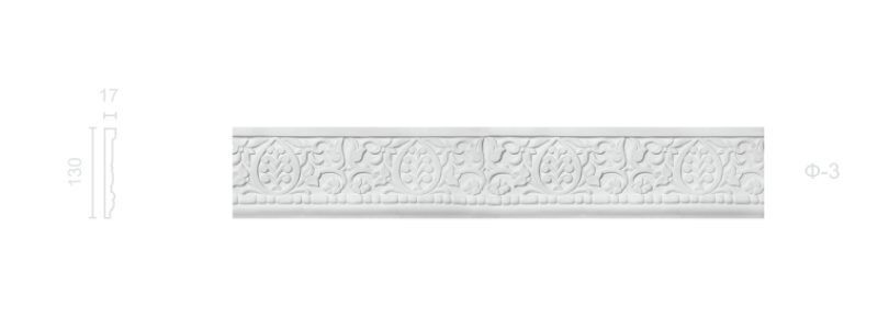 Plaster frieze F-3