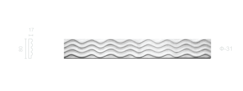 Plaster frieze F-31