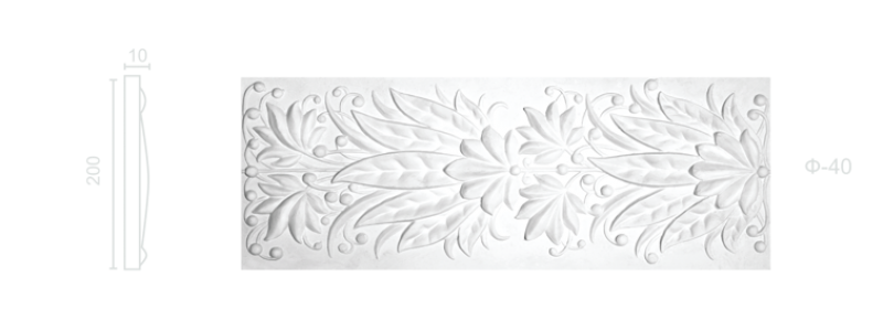 Plaster frieze F-40