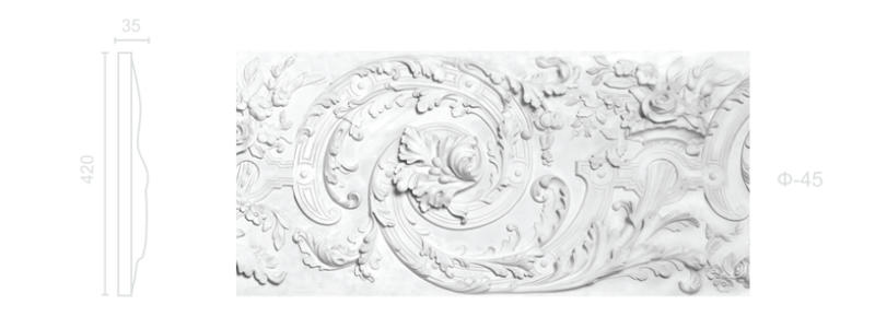 Plaster frieze F-45