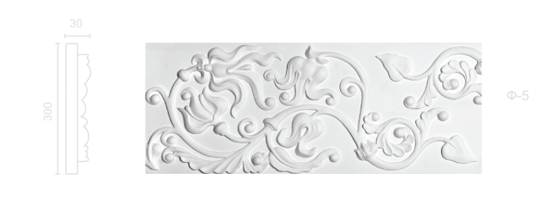 Plaster frieze F-5