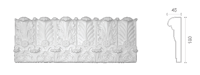 Plaster frieze F-52