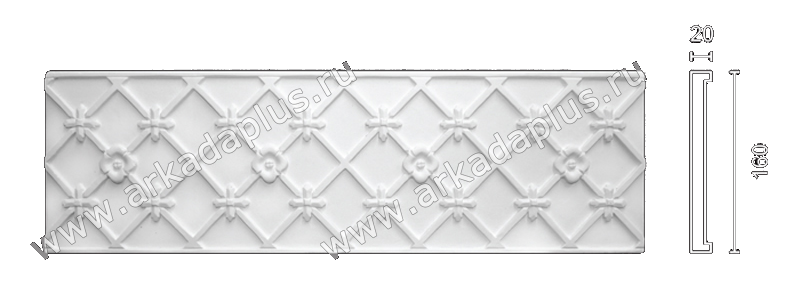 Plaster frieze F-55