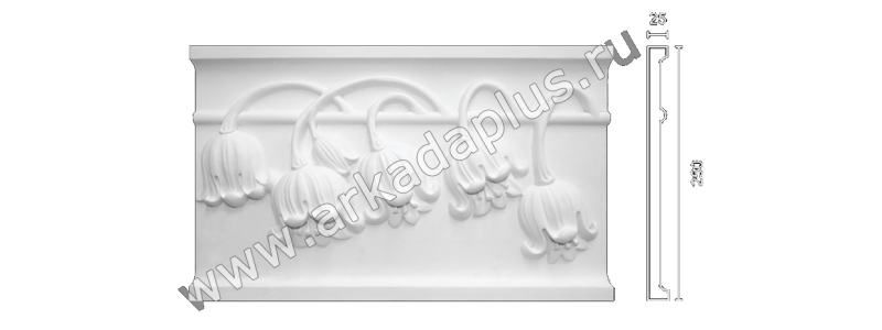 Plaster frieze F-57