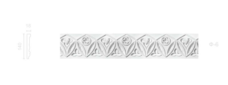 Plaster frieze F-6