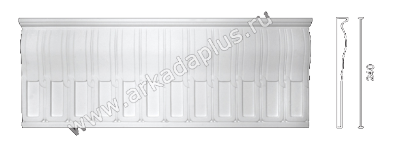 Plaster frieze F-60