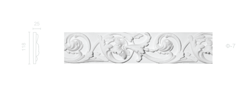 Plaster frieze F-7