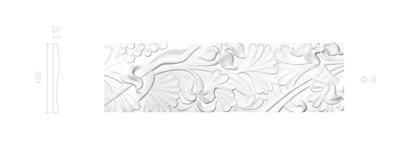 Plaster frieze F-9