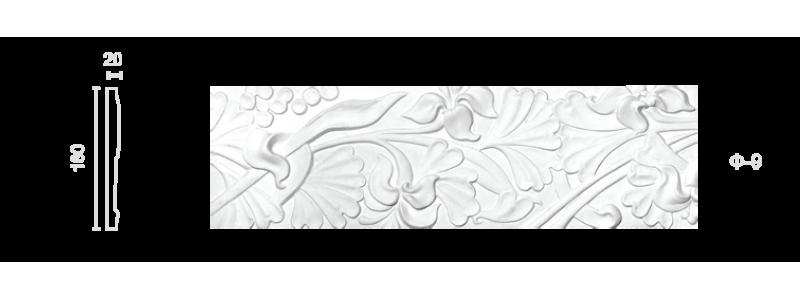 Plaster frieze F-9