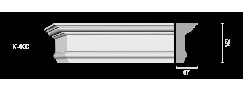Profiled cornice С-400