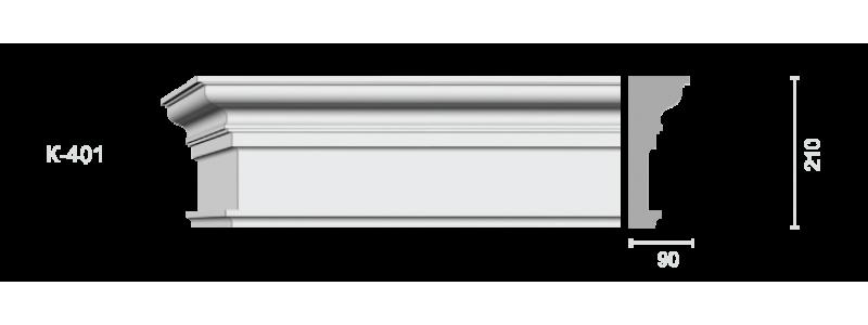 Profiled cornice С-401