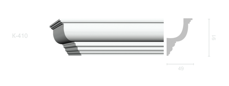 Profiled cornice С-410