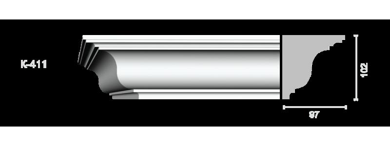 Profiled cornice С-411