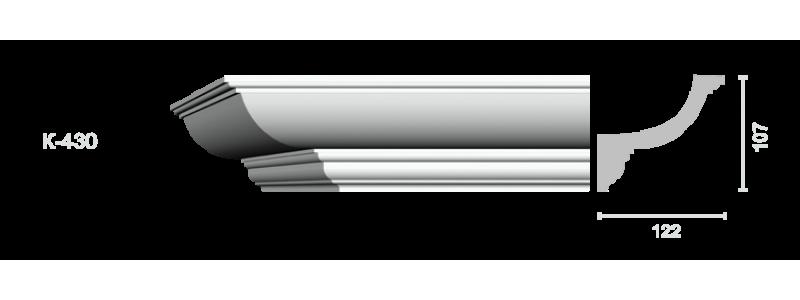 Profiled cornice С-430