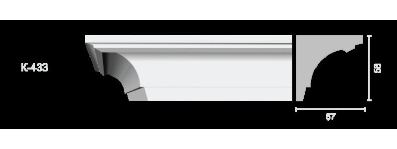 Profiled cornice С-433