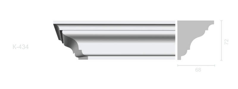 Profiled cornice С-434