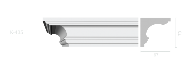 Profiled cornice С-435