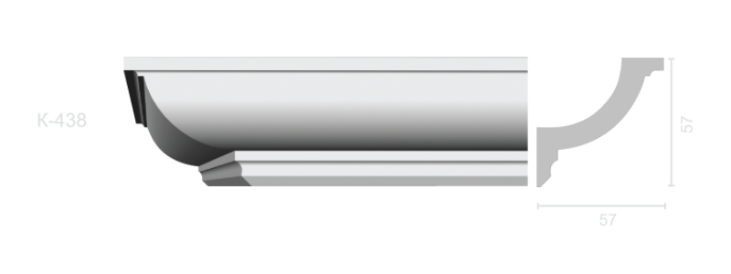 Profiled cornice С-438