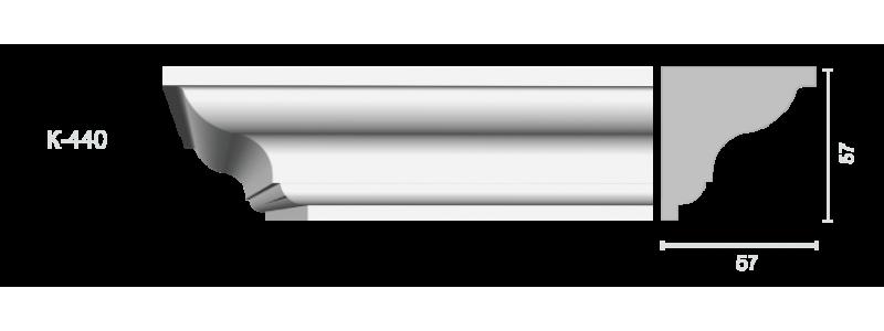 Profiled cornice С-440
