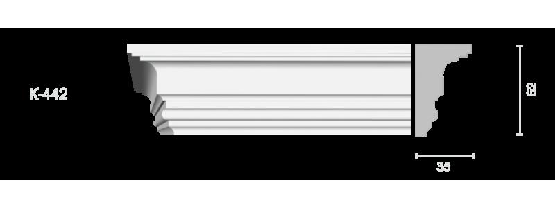 Profiled cornice С-442