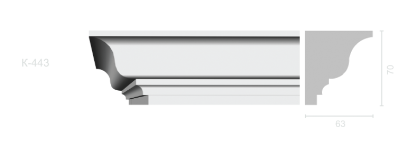 Profiled cornice С-443