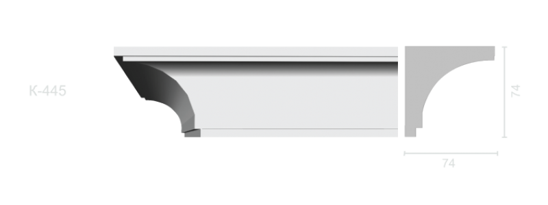 Profiled cornice С-445