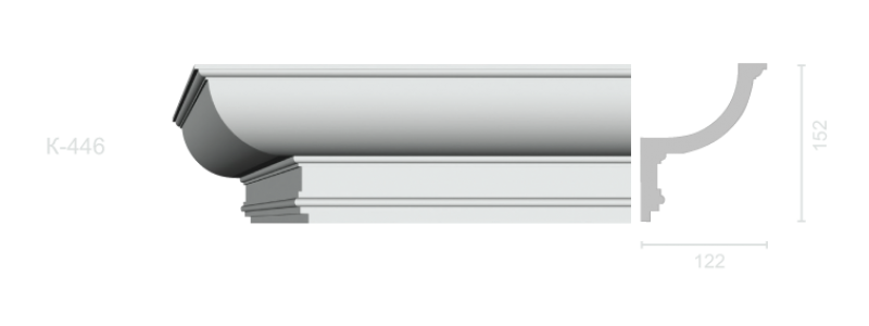 Profiled cornice С-446
