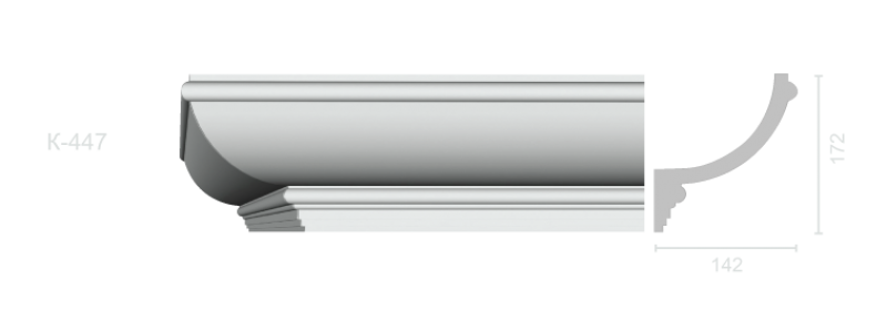 Profiled cornice С-447