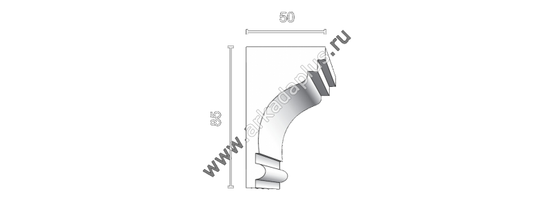 Profiled cornice С-451