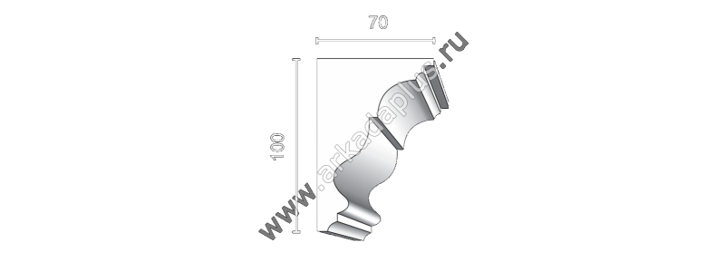 Profiled cornice С-454