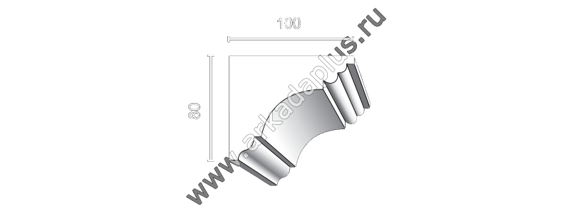Profiled cornice С-461