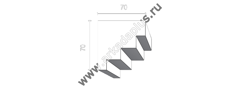 Profiled cornice С-462