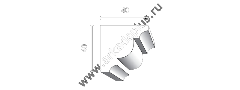 Profiled cornice С-469