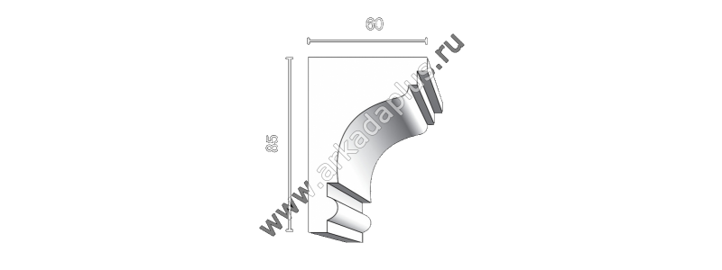 Profiled cornice С-471