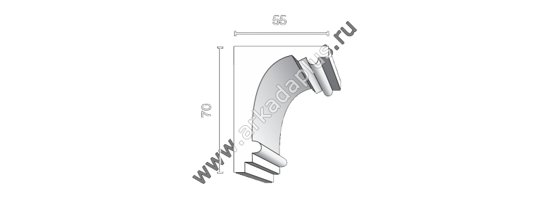 Profiled cornice С-481