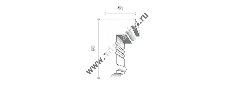 Profiled cornice С-485