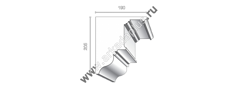 Profiled cornice С-488
