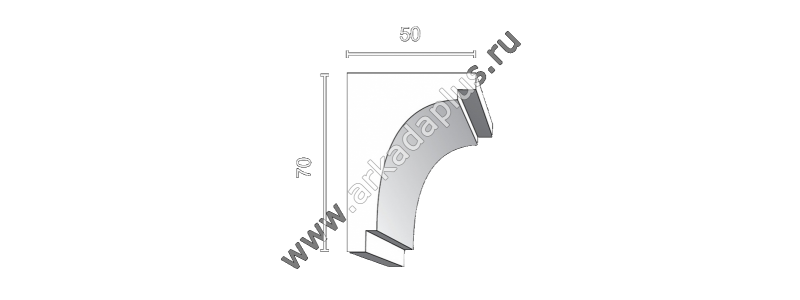 Profiled cornice С-491