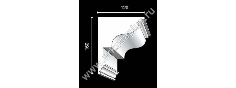Profiled cornice С-495