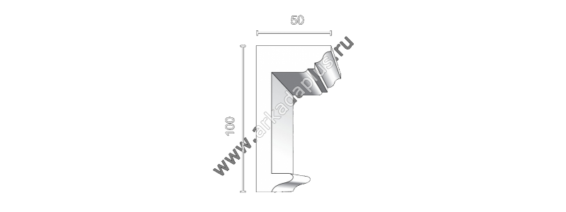 Profiled cornice С-497