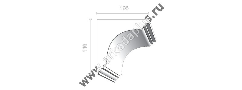 Profiled cornice С-510